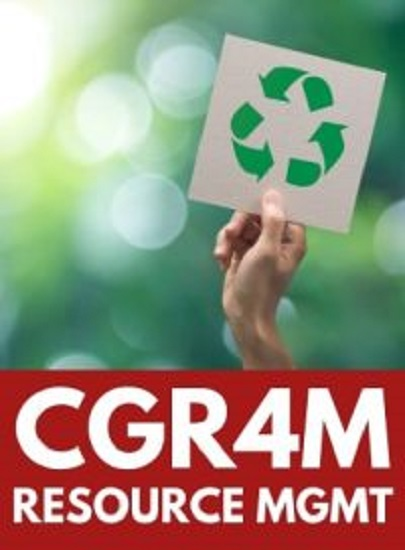CGR4M, Grade 12 Environment Resource Management (Mixed)