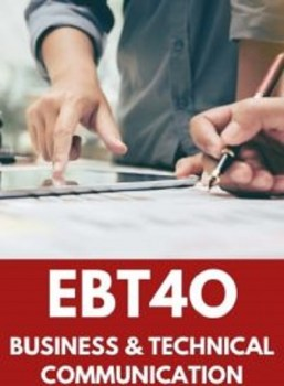 EBT4O, Grade 12 Business and Technology English (Open)