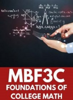 MBF3C, Grade 11 Foundations for College Mathematics (College)